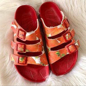 Birkis by Birkenstock Sansibar Strawberry sandals